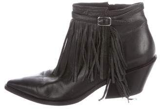 Sigerson Morrison Fringe Leather Ankle Boots