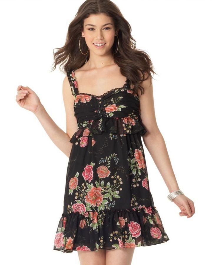 Rampage Sleeveless Floral Dress