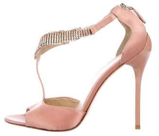Brian Atwood Embellished Satin Pumps