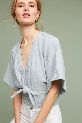 Floreat Raeka Tie-Waist Kimono Blouse $78 thestylecure.com