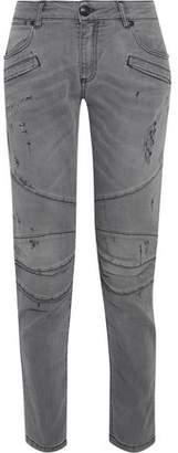 Pierre Balmain Moto-Style Distressed Low-Rise Skinny Jeans