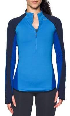 Under Armour ColdGear Half-Zip Colorblocked Pullover