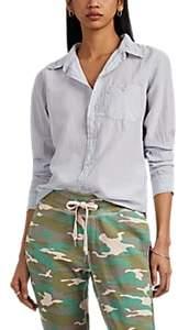 NSF Women's Barra Cotton-Silk Voile Button-Front Blouse - Gray