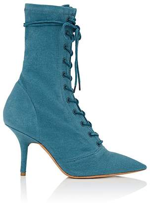 Yeezy Women's Canvas Lace-Up Ankle Boots