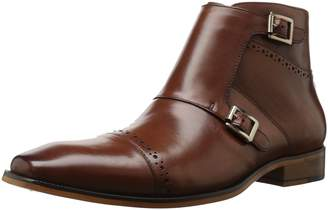 Stacy Adams Men's Kason Cap Toe Double Monk Strap Side Zipper Boot Chukka