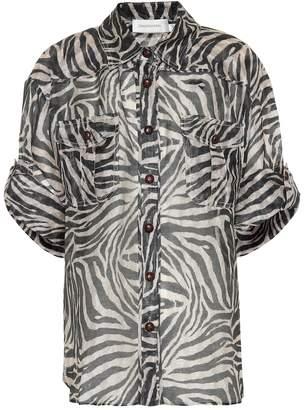 Zimmermann Corsage linen and silk shirt