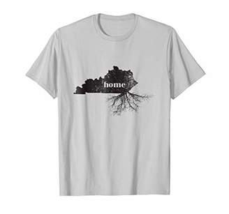 Kentucky Home Roots State Map Shirt Born Love Pride Gift Tee