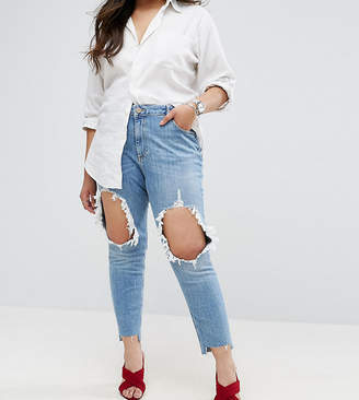 Asos Kimmi Boyfriend Jean in Lillian with Rips and Stepped Hem