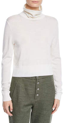 Rag & Bone Doyle Funnel-Neck Cropped Pullover Sweater