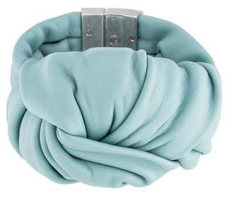 Celine Leather Knot Bracelet