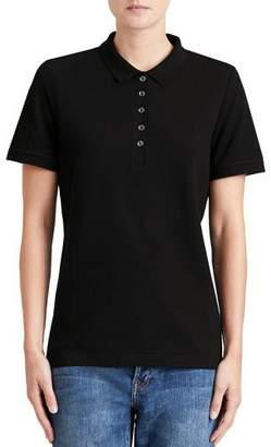 Burberry Slim-Fit Polo Shirt with Check Trim, Black