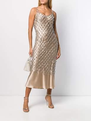 Paco Rabanne crystal embellished dress