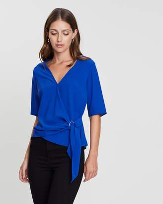 Dorothy Perkins Ring Tie Front Top