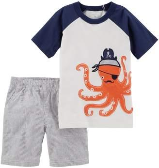 Carter's Toddler Boy Octopus Raglan Top & Shorts Set