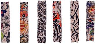 Simplicity 6 Pc Set of Multi Colored and Patterned Tattoo Sleeves, Stretch Fit
