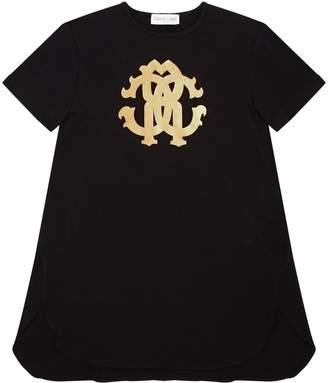Roberto Cavalli Dropped Hem Logo T-Shirt