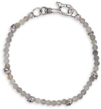 Mercer Sterling Silver & Labradorite Skull Bracelet