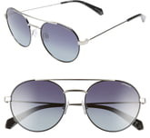 Polaroid Eyewear 55mm Polarized Round Aviator Sunglasses