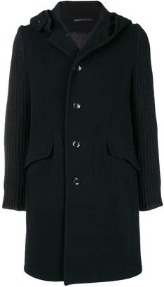 Y's knitted sleeve coat