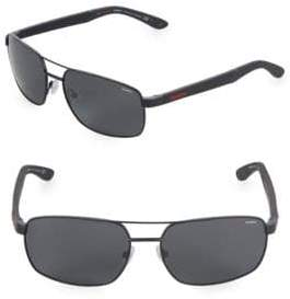 Carrera 59MM Rectangle Sunglasses
