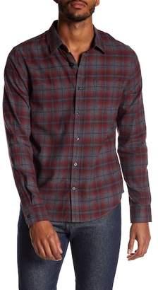 Vince Window Shadow Plaid Trim Fit Shirt