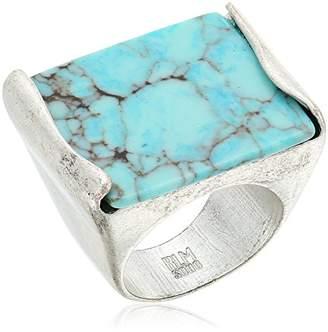 Robert Lee Morris Mosaic Semiprecious Stone Ring