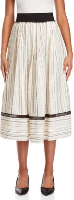 Alysi Pleated Cotton Prairie Skirt