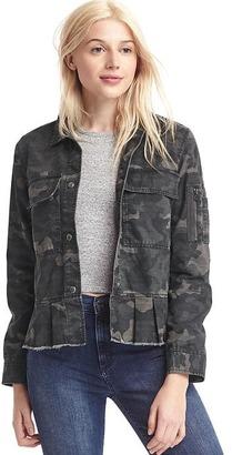 Peplum utility jacket $98 thestylecure.com