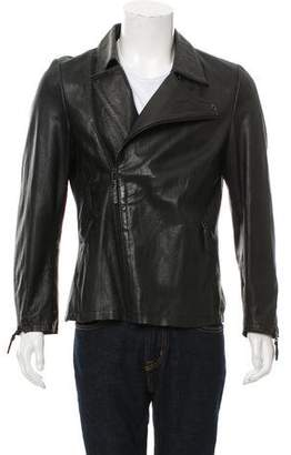Barbara Gongini Leather Cafe Racer Jacket