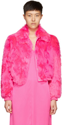 Sies Marjan Pink Fur Muffy Bomber Jacket $6,900 thestylecure.com