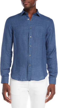 Todd Snyder Micro Gingham Linen Shirt