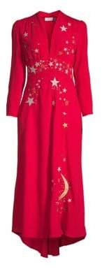 Rixo Margo A-Line Midi Dress