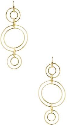Noir Women's Triple Tier Double Ring Statement Earrings