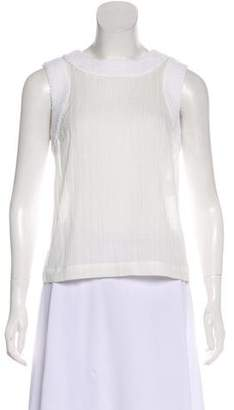Chanel Sleeveless Semi-Sheer Blouse w/ Tags