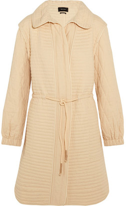 Isabel Marant - Boyd Quilted Cotton Coat - Ecru $885 thestylecure.com