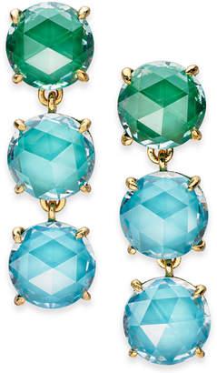 Kate Spade Gold-Tone Stone Triple Drop Earrings