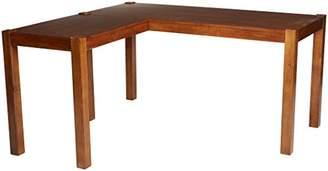 Signature Design by Ashley Ashley Furniture Signature Design - Lobink L-Shaped Home Office Desk - Contemporary - Brown Finish
