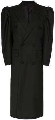 Blindness double breasted oversized coat