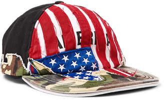 Vetements + Reebok Distressed Panelled Cotton-Twill Baseball Cap