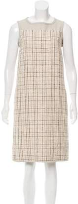 Max Mara Tweed Shift Dress Beige Tweed Shift Dress