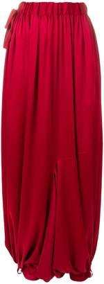 Y-3 draped harem trousers