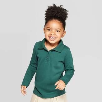 Cat & Jack Toddler Girls' Long Sleeve Interlock Uniform Polo Shirt - Cat & JackTM