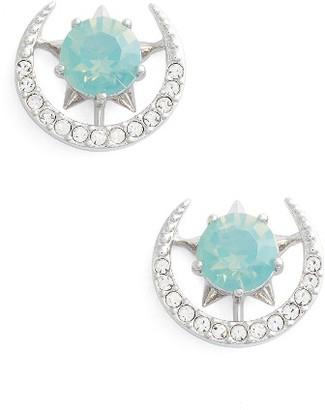 Women's Nadri Wishes Moon Stud Earrings $40 thestylecure.com