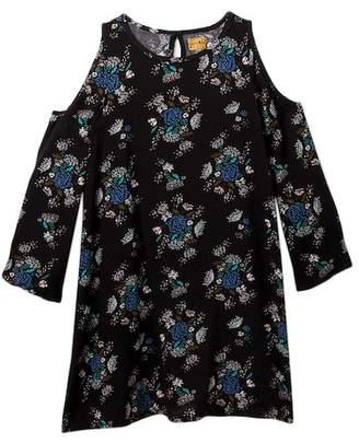 Harper Canyon Woven Cold Shoulder Sleeve Dress (Big Girls)