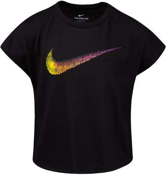 Nike Little Girl's Rainbow Logo Boxy Tee