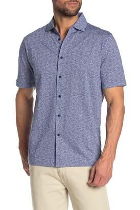 Bugatchi Patterned Short Sleeve Knit Shirt