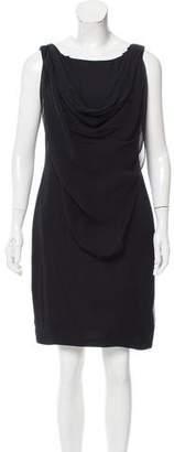 Marchesa Draped Silk Dress
