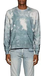 ATM Anthony Thomas Melillo Men's Tie-Dyed Cotton-Cashmere Sweater - Blue
