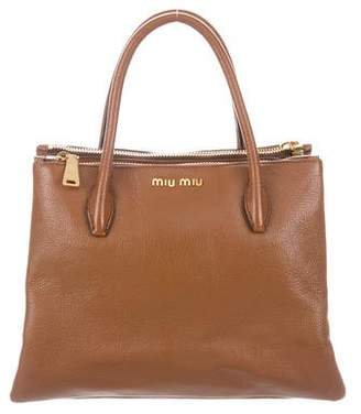 Miu Miu Madras Top-Handle Satchel