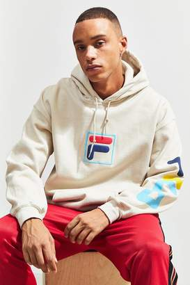 Fila UO Exclusive '90s Puff Ink Logo Hoodie Sweatshirt